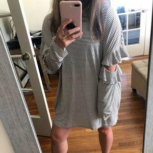 All Saints striped slouchy tunic / mini dress